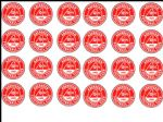24 Aberdeen FC  Edible Wafer Rice Cup Football Cake Toppers